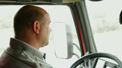 Lorry driver - stock footage