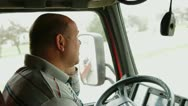 Truck driver on the phone Stock Footage