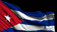 Flag of Cuba Stock Footage