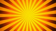 Hypnotize orange rays Stock Footage