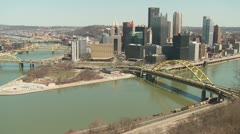 Pittsburgh Skyline 5 Stock Footage