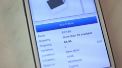 Mobile web shopping 01 Stock Footage