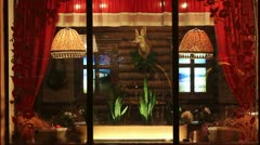 Russian style of decorating the restaurant Stock Footage
