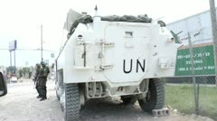UN Armored Vehicle Stock Footage
