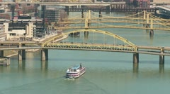 Riverboat on the Allegheny River 1 Stock Footage