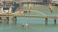 Stock Video Footage of Riverboat on the Allegheny River 1