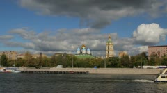 Timelapse in motion of the small Church in the center of Moscow Stock Footage