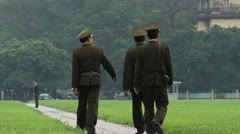 Vietnam Police Walking Stock Footage