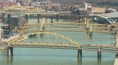 Pittsburgh Allegheny River Bridges 6 Stock Footage