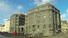 R.G.Vege's profitable house in St. Petersburg - stock footage