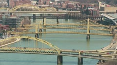 Pittsburgh Allegheny River Bridges 5 Stock Footage