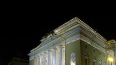 Alexandrinsky theatre in Saint-Petersburg Stock Footage