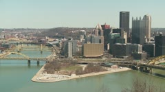 Pittsburgh Skyline 3 Stock Footage
