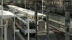 Denver Light Rail Mass Transit Stock Footage