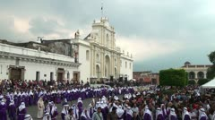 Antigua, Guatemala - Good Friday Procession Stock Footage