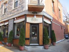 Passé Compose Restaurant Montreal Stock Photos