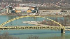 Pittsburgh Fort Pitt Bridge Stock Footage