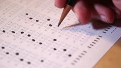 Scantron Test Paper Stock Footage