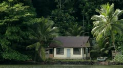 Island Shack on Pohnpei Stock Footage