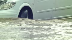 The consequences of floods Stock Footage