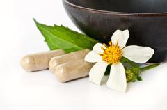 Herbal drug. Stock Photos