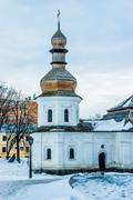 saint michael monastery in kiev - stock photo