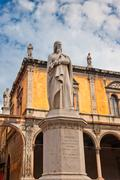 Monument of dante, verona, italy Stock Photos