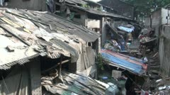 Slums in Chongqing city centre, China Stock Footage