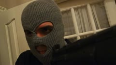 Stock Video Footage of break in home invasion pov