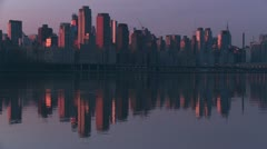 New York City Hudson River Morning Twilight 7 Stock Footage