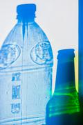 bottle shadow projection - stock photo