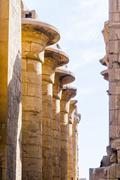 Columns in the karnak temple in luxor, egypt Stock Photos