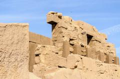 Karnak temple in luxor, egypt Stock Photos