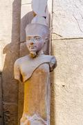 Karnak temple in luxor, egypt. statue of amun ra Stock Photos