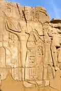 karnak temple in luxor, egypt. - stock photo