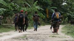 Philippines Mindanao Moro Islamic Liberation Front MILF Stock Footage