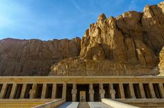 hatshepsut temple in the valley of the kings - stock photo
