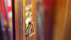 Key skeleton key unlocking Stock Footage