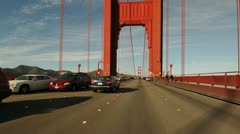 POV Driving over the Golden Gate Bridge - Timelapse - 4K - 4096x2304 Stock Footage