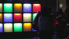 People dancing in the night club Stock Footage