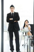 Business people having activities in office Stock Photos