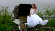 Stock Video Footage of Bride and coach