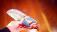 Native american knife Stock Footage
