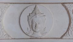 low relief of thai style deva - stock photo