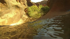 Top of the falls. Stock Footage