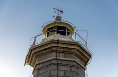 top of a lighthouse - stock photo