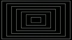Abstract white lines on a black background Stock Footage