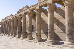Colonnade At The Temple Of Isis, Egypt Kuvituskuvat