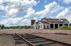 abandoned train depot - stock photo