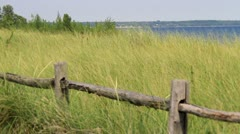 Lake Michigan Coastline Park Stock Footage